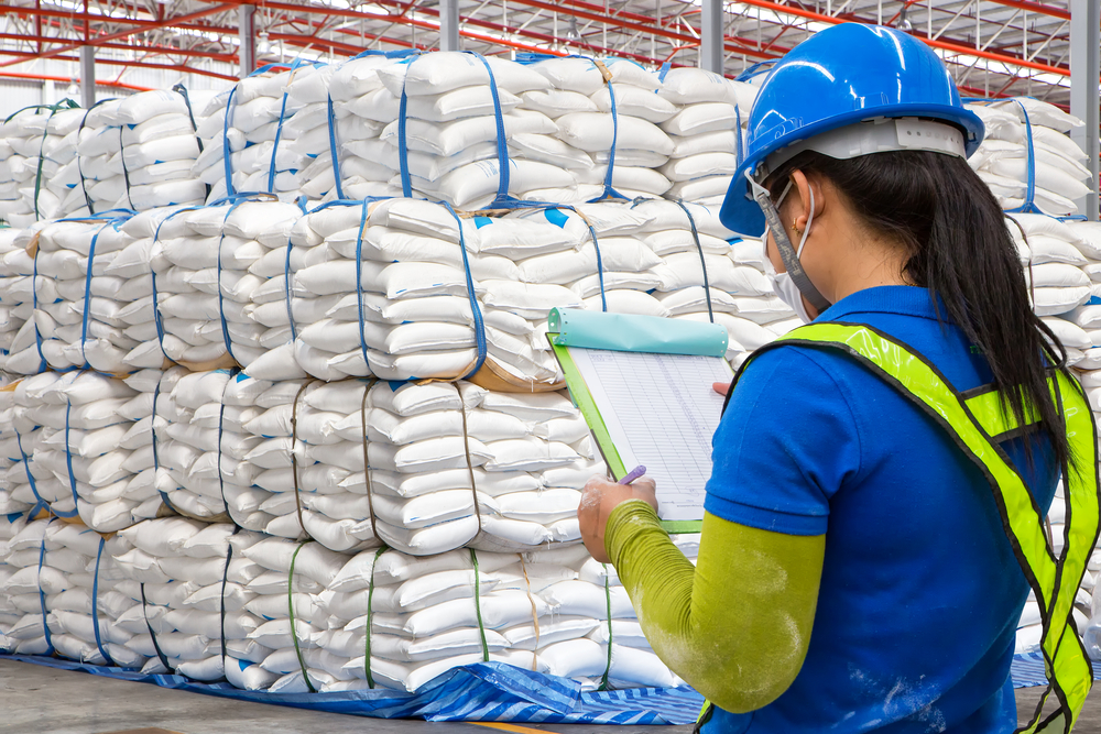bulk buying Asian food being stores in a warehouse