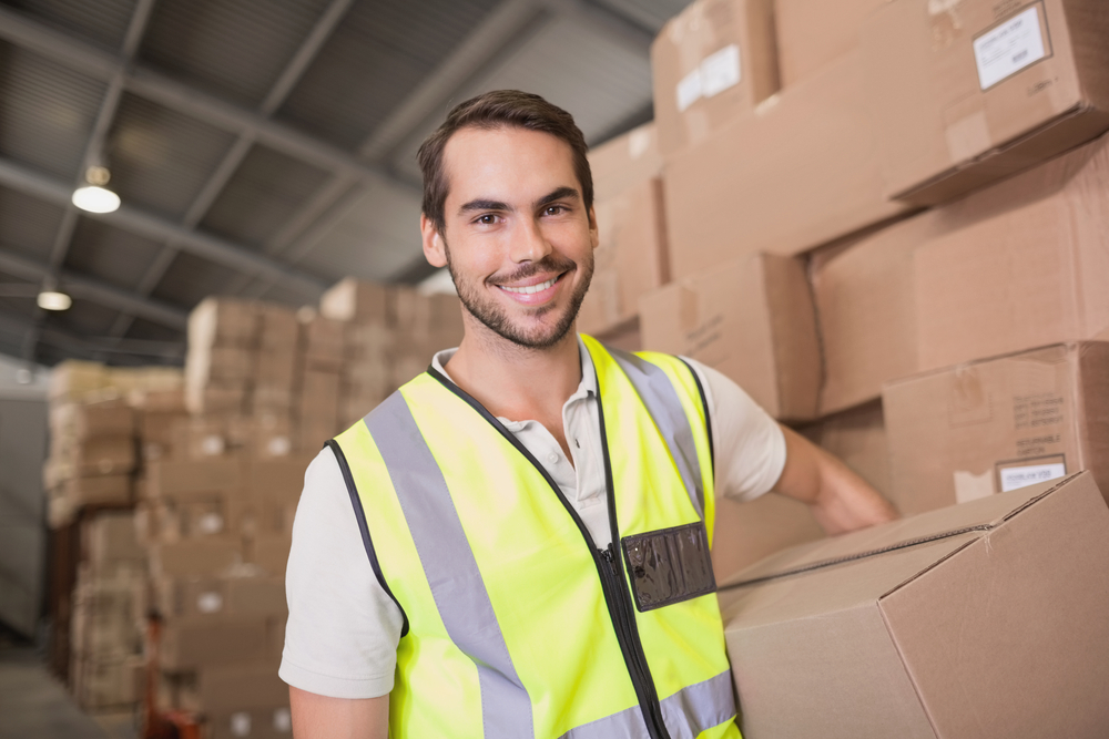 Dropshipping supplier man working in a warehouse