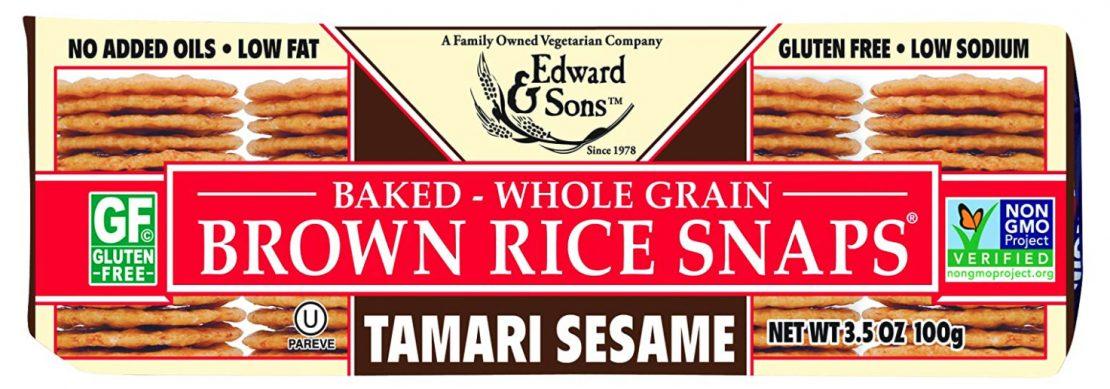 Edward & Sons: Tamari Sesame Brown Rice Snaps